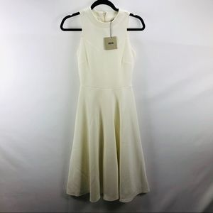 ASOS ivory fit dress size 0 NWT
